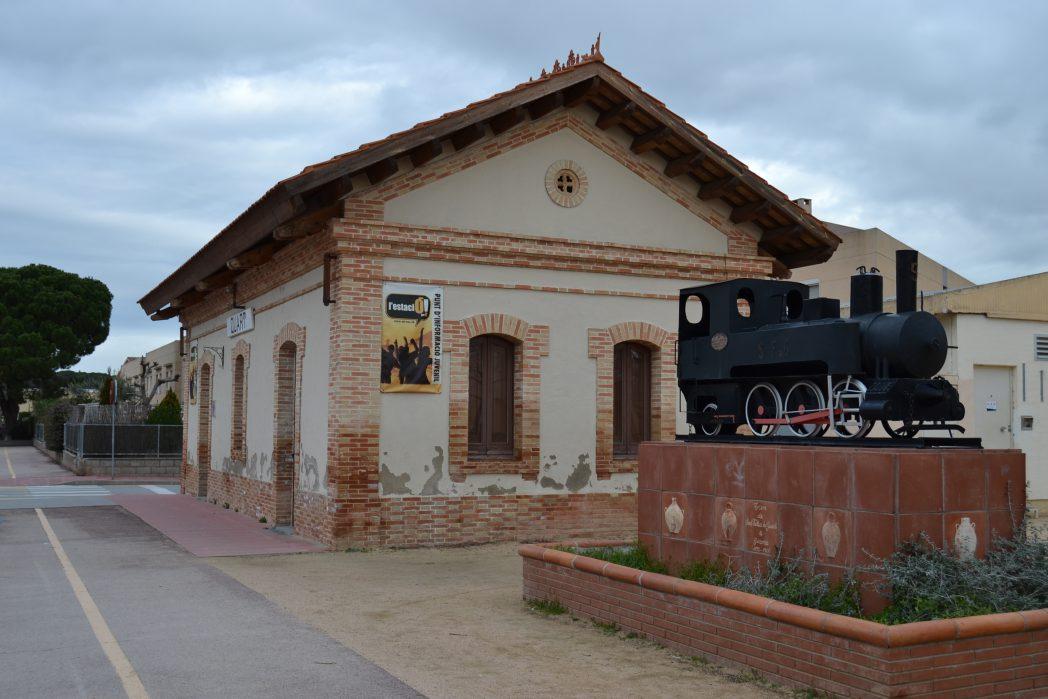 Antiga estació del carrilet a Quart