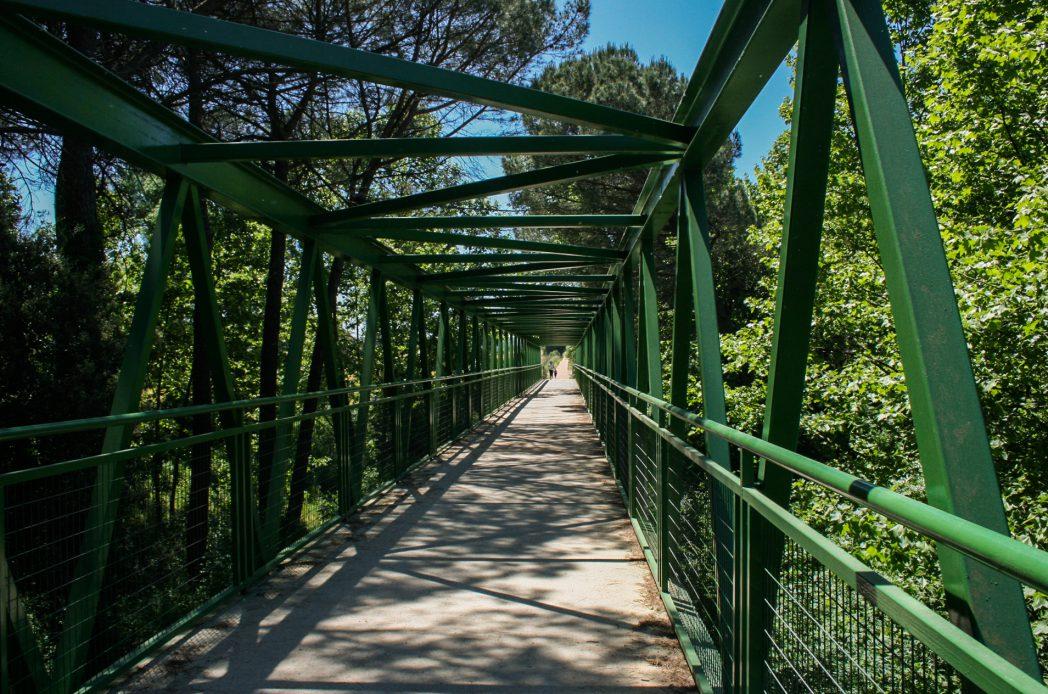 Pont sobre la via verda
