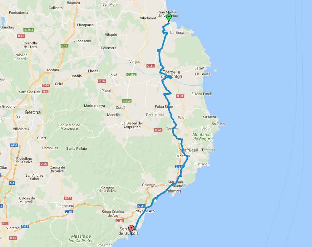 Mapa ruta Baix Empordà