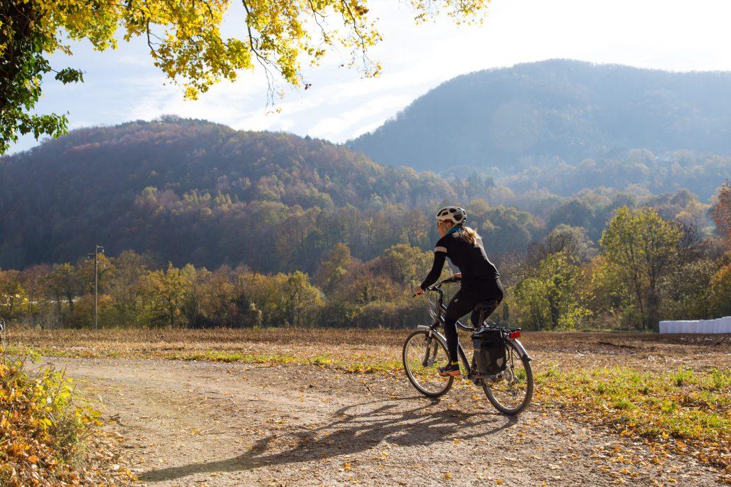 Ciclista per la vall de Camprodon