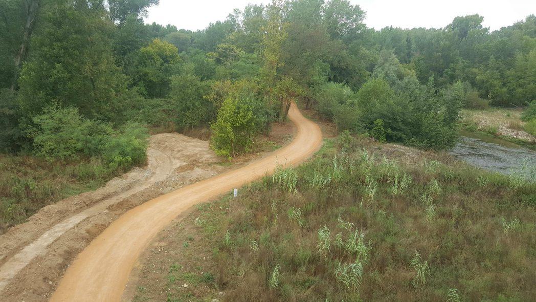 tram de la ruta Girona - Sarrià de Ter al seu pas per Sarrià de Ter